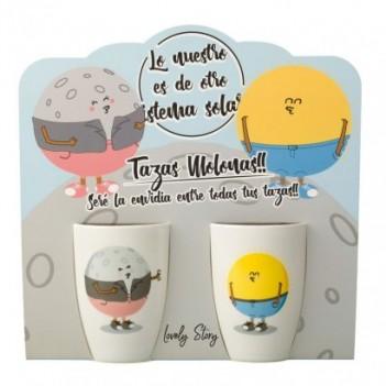 Pack 2 tazas Sol y Luna
