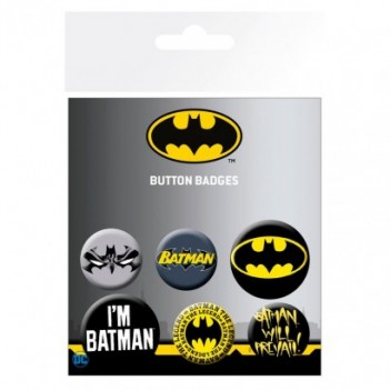 Set chapas Batman DC Comics