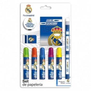 Set papelería Real Madrid 9pzs