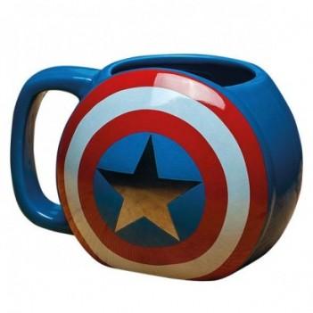 Taza 3D Capitán América Marvel