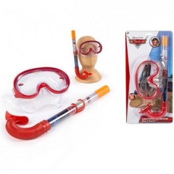 Set gafas tubo bucear Cars Disney