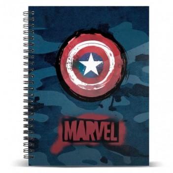 Cuaderno A5 Capitán América...