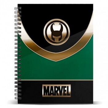 Cuaderno A5 Loki Marvel