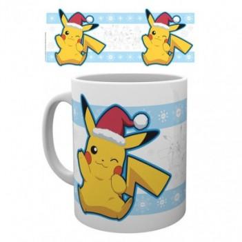 Taza Pokemon Pikachu Santa