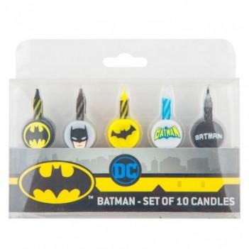 Blíster 10 velas Batman DC...