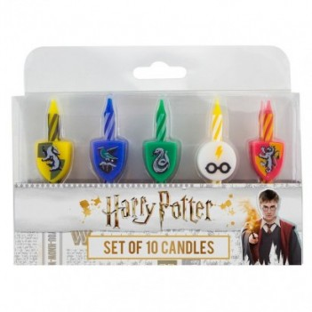 Blíster 10 velas Hogwarts...