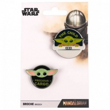 Set 2 broches Yoda Child...