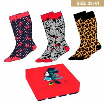 Set 3 calcetines Minnie Disney mujer