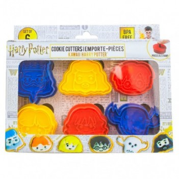 Set 6 moldes galletas Harry...