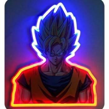 Lampara mural neon Vegeta...