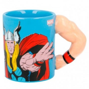 Taza 3D Brazo Thor Marvel