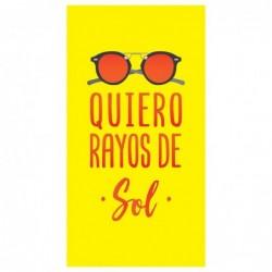 Toalla Quiero Rayos De Sol...