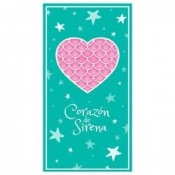 Toalla Corazon De Sirena...